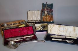 A quantity of silver plated flatware in various patterns.