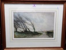 William Tatton Winter (1855-1928), When trees are bare, watercolour, signed and inscribed,