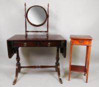 A reproduction Regency style mahogany so