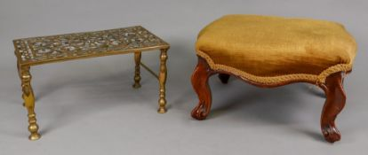 A George III style brass footman, the pi