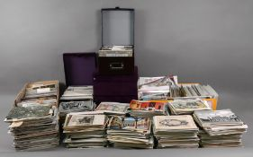 A large collection of Real Photographic, printed coloured and black and white postcards, mostly UK,