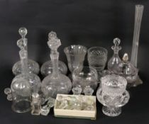 A collection of Victorian and later glas