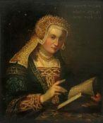 English School, A portrait of Margaret Tudor, bears inscription 'MARGARET TUDOR, AETATIS SVAE 20,