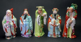 A set of three Chinese porcelain 'Star Gods', 20th century,