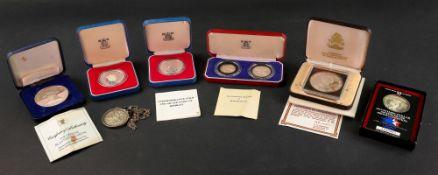 1983 USA silver dollar, USA silver bicentennial medal,