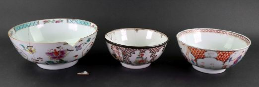 A Chinese famille rose bowl, Qianlong,