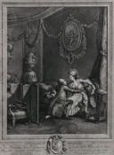 After Lavreince, L'Heureux Moment, engraving by Nicolas de Launay, signed in pencil (in margin),