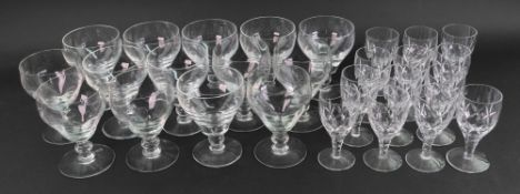 A set of eight Brierley glass rummers, in George III style, 12.