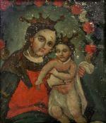 European School, 17th/18th Century, The Madonna and Child, oil on copper, 26 x 22cm.