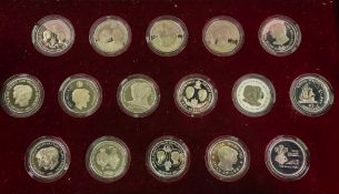 1981 Royal Marriage set of 16 commemorative silver coins,