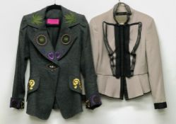 Christian Lacroix, Paris; a lady's jacket, together with a Zara Woman lady's jacket,