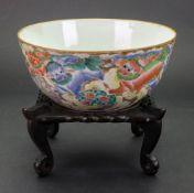 A Chinese famille rose bowl, 19th century,