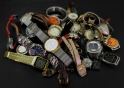 A large collection of fashion wristwatches,