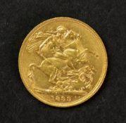 Queen Victoria sovereign 1899.