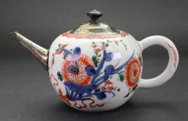 A Chinese porcelain bullet shaped teapot and cover, Qianlong,