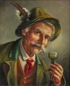 Carl Siegfried Stoitzner (Austrian, 1866-1943), A gentleman holding a glass of wine,