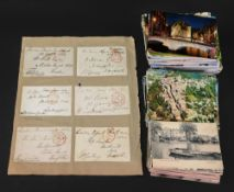 A collection of 11 George III - William IV envelope covers with 'free' stamps,