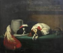 After Sir Edwin Henry Landseer, The Cavalier's Pets, oil on canvas, 62 x 75cm.