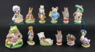 A group of eight Beswick Beatrix Potter figures; Little Pig Robinson, 1989; Amiable Guinea-Pig,