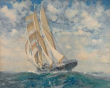 James Scrimgeour Mann (British, 1883-1946) Beating Up to the Western Isles,