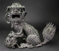 A Chinese bronze lion censer and cover, 17th/18th century,