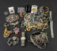 A large collection of gold jewellery and a collection of silver,