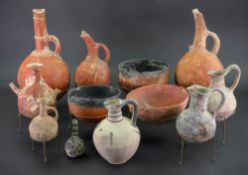 A group of pottery, thought to be Cypriot, to include 8 pouring vessels,