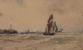 Thomas Bush Hardy (British, 1842-1897), Shipping Off Boulogne, signed,