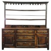 A George III oak dresser,
