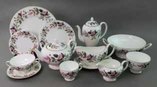 A Wedgwood Hathaway Rose part tea, coffee and dinner service, 79 pieces.