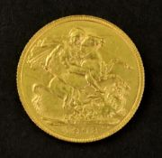 Edward VII sovereign 1908.