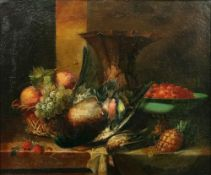 European School, 18th/19th Century, Still life of dead birds and fruit; and a companion, a pair,