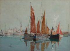 James Scrimgeour Mann (British, 1883-1946), Slack Water,