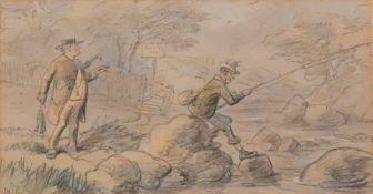 Hablot Knight Browne (British, 1815-1882) A Catch,