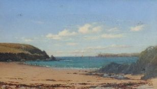 English School, 19th Century, The sands Angle at the Entrance of Milford Haven facing Summer Head,