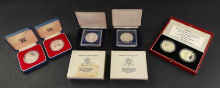 1979 Turks and Caicos silver 10 crowns x 2,