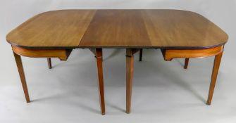 A George III mahogany dining table,