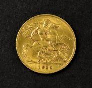 George V half sovereign 1912.