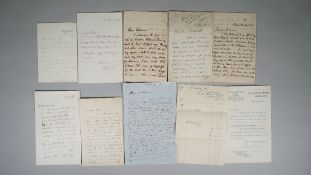 GEOLOGISTS - A collection of 21 autograph letters to Hugh Falconer, Joseph Prestwick and others,