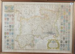 SEALE, Richard William (d. 1785). Map of the County of Middlesex. London: [c. 1760].