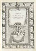 """TERENCE (c.195 BC - c.159 BC). Comoediae. Paris: """"E Typographia Regia,"""" 1642. Folio (367 x 255mm)."""