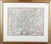 [HONDIUS, Henricus (1573-1650)]. Bresse. [Amsterdam: c. 1630].