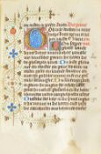 BOOK OF HOURS, in Dutch, illuminated manuscript on vellum [The Netherlands, 15th-century,