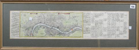 """LONDON - Gabriel BODENEHR (c.1664-c.1758). Londen, Westmunster u: Soudwark. """"Augustae"""" [ie."""