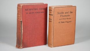 RIDER HAGGARD, Henry (1856-1925). Smith and the Pharaohs. And Other Tales. Bristol: J. W.