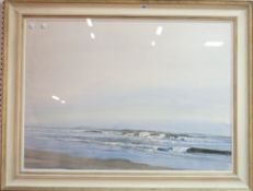 Morrison, (contemporary), Breakers on the shore, gouache mixed media, signed and dated 29.XI.