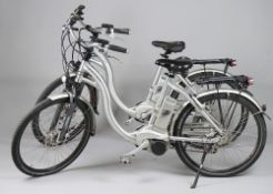 Flyer, two electric bikes, (lacking keys), wheel size 26 inches, (a.f.).