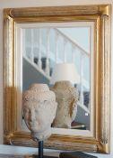 A modern rectangular giltwood mirror, 112cm x 93cm.