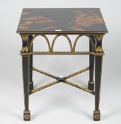 A modern chinoiserie decorated occasional table,