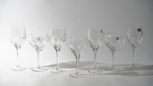 Fifteen Baccarat style crystal wine glasses, 26.